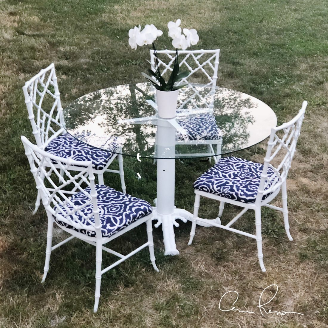 Prime Corinne Lyn 1940S Cast Aluminum Patio Table And Chairs Theyellowbook Wood Chair Design Ideas Theyellowbookinfo